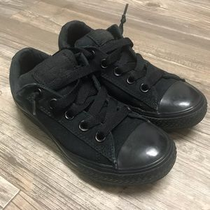 Kids Converse All Star Low Black Mono Sneakers